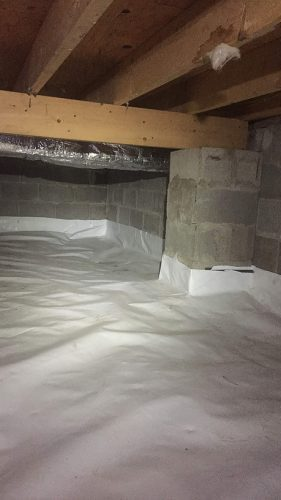 Crawl Space Encapsulation WI, RVI High Performance: Vapor Barrier Installed